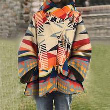 Осенне зимнее женское пальто свободная куртка с капюшоном и