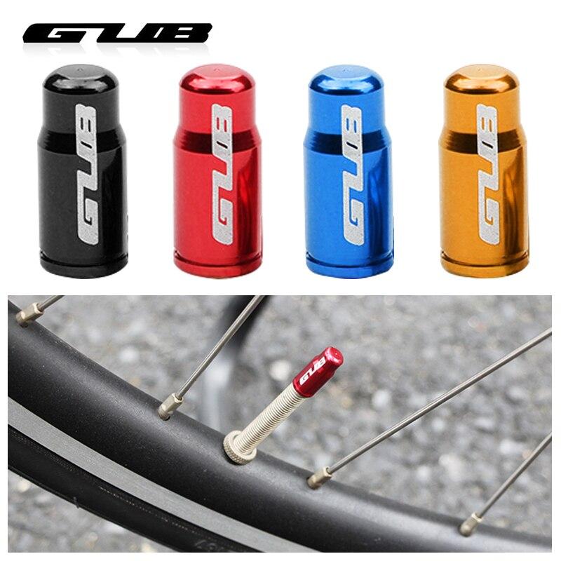 GUB 4 шт. велосипедная крышка клапана опционально Schrader A/V Presta F/V CNC-machined сплав анодированный соска крышка деревенский бесплатно