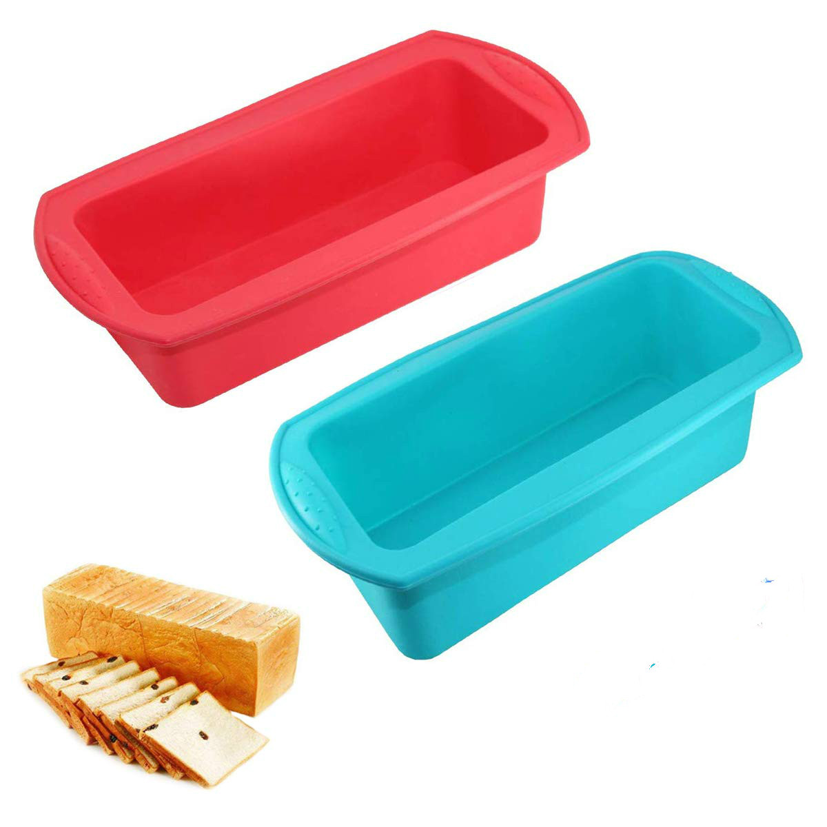 Silicone Bread Loaf Pan Non-Stick Baking Mould Cake Pan Pumpkin Bread Oven Baking Mold Microwave Dishwasher Safe image