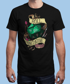 Roll Initiative Men's T-Shirt Cotton O-Neck Short Sleeve T Shirt New Size S-3XL giant bicycles mountains bikes t shirt s to 3xl