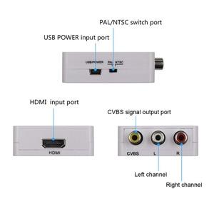 Image 2 - 1080p mini hdmi ao conversor composto do adaptador do av de rca cabo video áudio conversor do adaptador de cvbs av para a tevê hd com cabo de usb