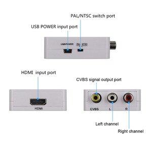 Image 2 - HDMI ל AV ממיר Scaler מתאם מרוכבים ממיר תיבת כדי RCA AV/CVSB L/R וידאו HD 1080P מיני HDMI2AV תמיכה NTSC PAL