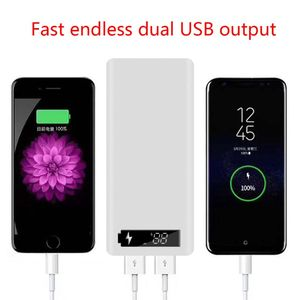 Image 2 - LCD Display DIY 10x18650 Battery Case Power Bank Shell Portable External Box without Battery Powerbank Protector