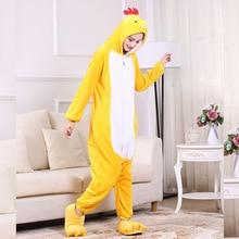 Women Pajamas Onesie Funny Animal Chick Kigurumis Unisex Couple Men Sleepwear Pajama Adult Home Cartoon Jumpsuit Outfit