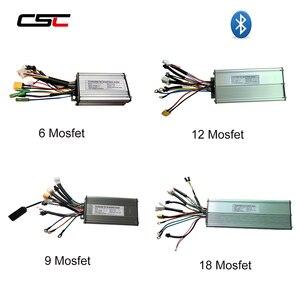 Image 1 - ebike Controller 6 9 12 18 Mosfet 36V 48v e Bike Controller Sine Wave/ Dual Mode Brushless KT Electric Controller