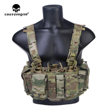 emersongear Emerson MF style Tactical Chest Rig UW Gen IV Hunting Vest Harness Split Front Carrier CS Military Army Gear h harness chest rig plate carrier tactical vest rifle 5 56 7 62x39 single double pistol flapped gp stuff pouches hunting men