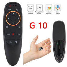 Control de voz inalámbrico ratón remoto Control 2,4G giroscopio infrarrojos aprendizaje micrófono para Android TV Box