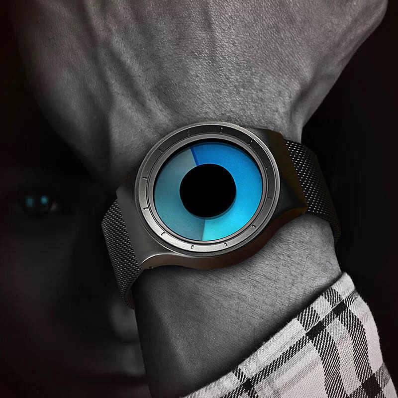 ساعات كوارتز الإبداعية الرجال قمة الموضة العلامة التجارية عادية شبكة من الاستانلس استيل باند ساعة للجنسين ساعة الذكور الإناث شهم هدية