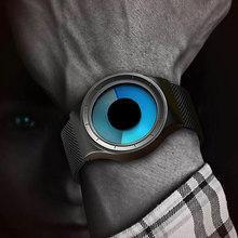 Yaratıcı kuvars saatler erkekler üst moda marka rahat paslanmaz çelik tel örgü bant Unisex İzle saat erkek kadın beyefendi hediye