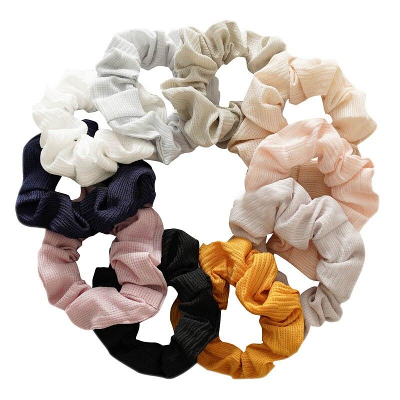 Купить женские тёплые вельветовые резинки для волос 10 цветов