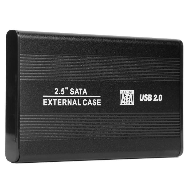 2.5 Inch USB 2.0 To SATA HDD Case External 480Mbps SSD Hard Drive Enclosure Support 3 TB Hard Disk For Windows 98/SE/ME
