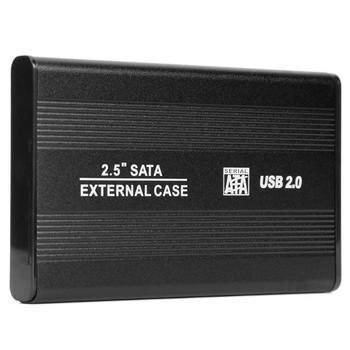 2.5 inch USB 2.0 to SATA HDD Case External 480Mbps SSD Hard Drive Enclosure Support 3 TB Hard Disk for Windows 98/SE/ME image