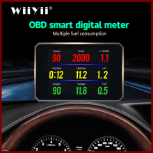 Geyiren P16 5.8 Tft Obd Hud Head Up Display Digitale Auto Snelheid Projector Boordcomputer OBD2 Snelheidsmeter Voorruit projetor