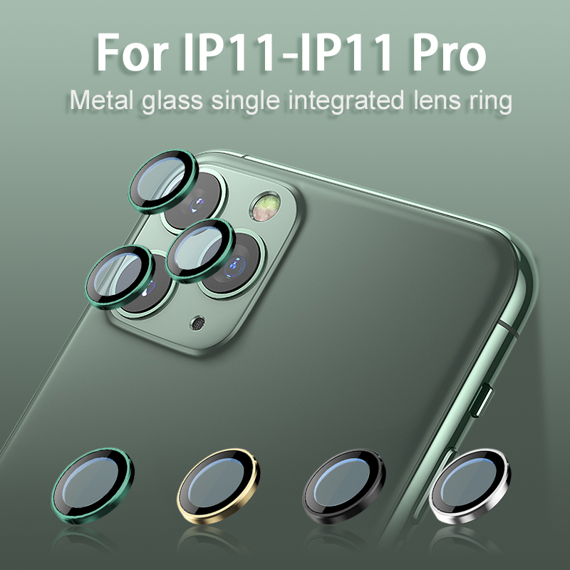 For IPhone 11 Camera Guard Circle For Iphone 11 Pro Max Metal Camera Lens Screen Protector Cover For IPhone 11 Pro Ring Bumper