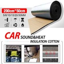 50X200Cm 5/10/20/30Mm Auto Deadener Mat Noise Motorkap Isolatie Deadening voor Hood Motor Sticker