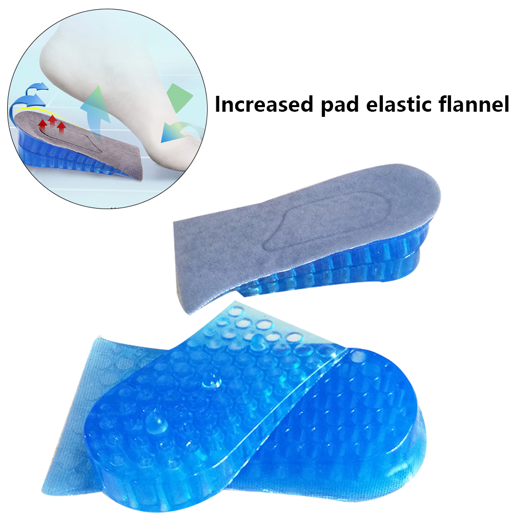 For Women And Men Extra High Accessories Soft Honeycomb Breathing Gel Heel Lifts Height Increase Insoles Shoe Inserts Pads Raise