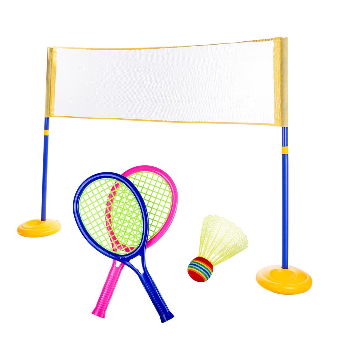 2-In-1 Children Tennis Badminton Net Racket Sports Toy Set Outdoor Educational Sports Toys Parent-Child Sport Educational Toys