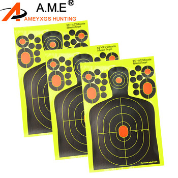 9.5″x14.5″ Archery Target Shooting Paper Range Reactive Splatter Fluorescence Self Adhesive  Practice Hunting Accessories