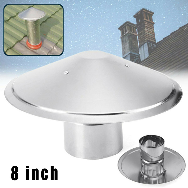 Ventilator Chimney Cap Pipe Fireplaces Rain Hat Galvanized Weatherproof