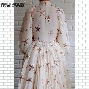 Image 2 - Bling Ngôi Sao Nữ Váy Đầm Dạ Tay Sang Trọng Thổ Nhĩ Kỳ Hồi Giáo Vũ Hội Đầm Đầm Vestido De Festa 2020 Chính Thức Đảng Bầu Dubai