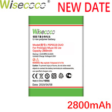 Wisecoco PSP5518 DUO 2800mAh NEW Battery for Prestigio Muze X5 Lte Psp 5518 DUO Cellphone High quality battery+Tracking Number