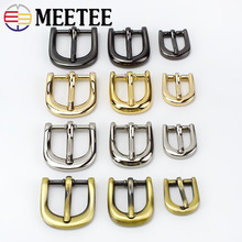 Meetee 5/10pcs Metal Buckles For Belt Pin Buckle Webbing Snap Hooks Hardware Luggage Bag Accessories F3-25