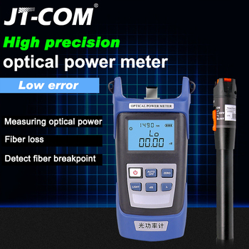 2 In1 FTTH Fiber Optic Tool Kit Fiber Optical Power Meter -70 + 10dBm and 10km 10mW Visual Fault Locator Fiber optic tester pen proskit 8pk ma009 200x fiber optic viewing scope kit black transparent