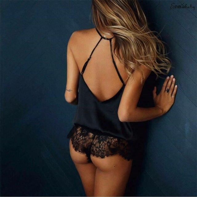 Women's Lace Lingerie Underwear Nightwear Sleepwear Bodysuit Jumpsuit Sexy Women Lingerie