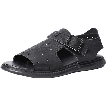 High Quality Genuine Leather  Men Slippers Flip Flops casual Shoes beach outdoor anti-skid mens gladiator sandals summer cowhide