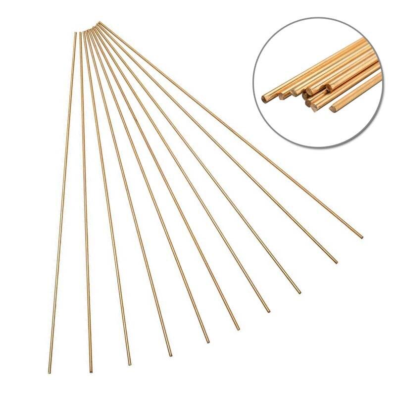 10pcs Brass Rod Wires Sticks 2mm * 250mm For Repair Welding Brazing Soldering
