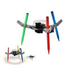 Doodling Robot Kit Creatieve Elektrische Auto Diy Graffiti Tekening Wetenschap Onderwijs Speelgoed Machine Voor Kids Teens