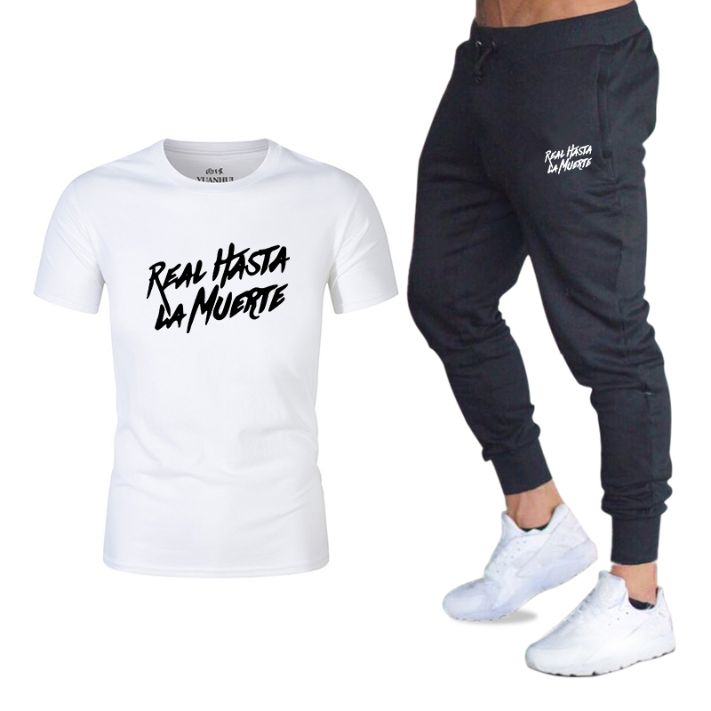 2020 New Summer Hot 2 Pieces / Set Men's Sportswear Suit Sports Shorts Men's And Women's T-shirts And Men's Sports Pants Men's