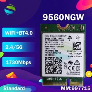Image 3 - Wifi Card For Intel Dual Band AC 9560 9560NGW 9560AC MM:957715 1.73Gbps  NGFF Key E Wifi Card  80211ac BT5.0 for Windows 10