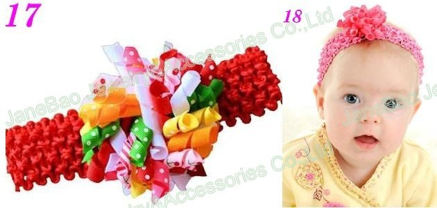 100 шт коркер повязки для волос Смешанные сотни цветов коркер повязки Красочные