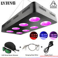 LED Grow Light 600W/1200W/1800W/2400W Full Spectrum COB Lamp for Hydroponics Indoor Greenhouse Grow Tent Plants Grow Led Light