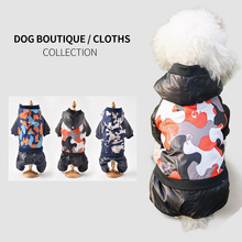 Winter Dog Clothes Pet Dog Down Coat Jacket For Chihuahua Soft Fur Hood Cothing For Small Medium Dogs Puppy Outfit