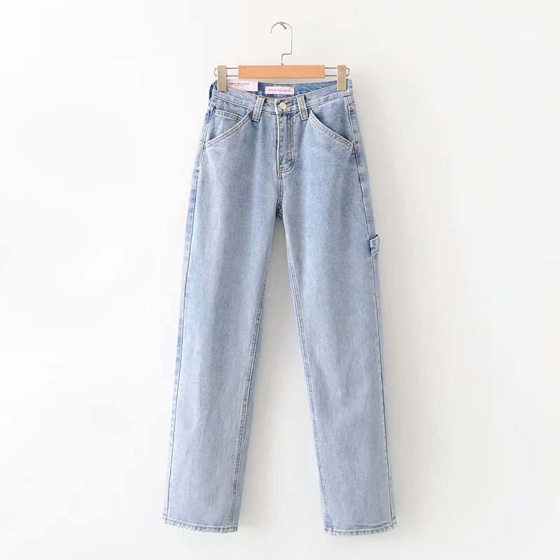 Jeans Woman High Waist 2020 New Wide Leg Female Pants Straight Loose Black Mom Pants Fashion Baggy Boyfriend Jean Women Trousers 6