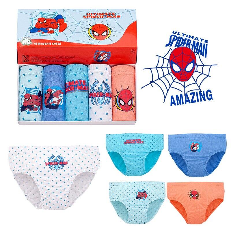 1pc Baby Panties Cotton Kids Panties Spiderman IronMan Boys Cartoon Underwear 3-12Y Panties For Girls Infant Baby Panties