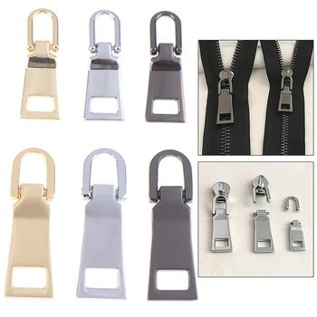 1Pcs Fashion Detachable Metal Zipper Pullers for Zipper Sliders Head Zippers Repair Kits Zipper Pull Tab DIY Sewing Accessories