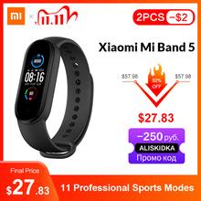 Xiaomi-Inteligentna bransoletka Mi Bank 5 4 kolory AMOLED ekran monitorowanie aktywności fizycznej Bluetooth sport wodoodporna promo kod MEGA1111 2 USD zniżki przy zamówieniach powyżej 15 USD tanie tanio Wszystko kompatybilny RUBBER Passometer Fitness tracker Uśpienia tracker Wiadomość przypomnienie Przypomnienie połączeń