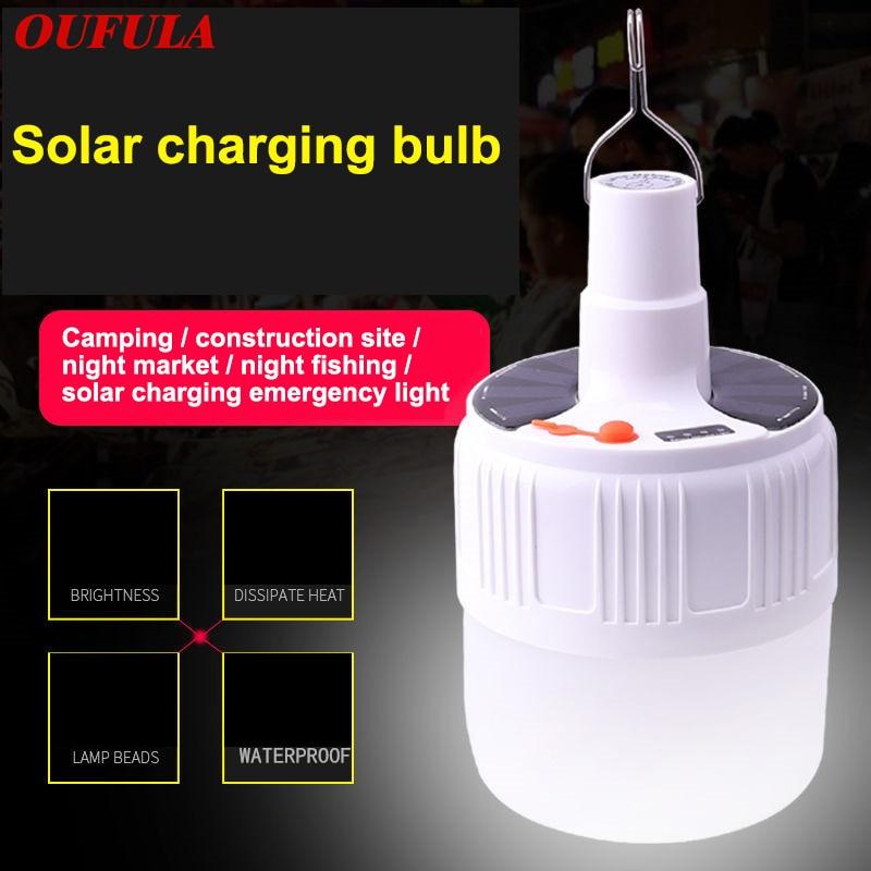 Multifuncional bateria de carregamento solar dc led night stall lâmpada tenda dispositivo acampamento iluminação emergência