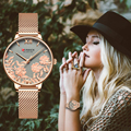 CURREN женские часы лучший бренд класса люкс из нержавеющей стали ремешок наручные часы для женщин розовые часы Стильные кварцевые женские ча...