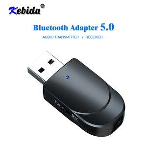 Kebidu Bluetooth Receiver Transmitter Mini Stereo Bluetooth 5.0 Audio AUX RCA USB 3.5mm Jack For TV PC Car Kit Wireless Adapter