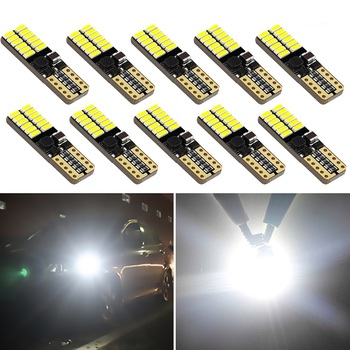 10x T10 W5W LED 4014 SMD Car Interior Reading Dome Light Marker Lamp 168 194 LED Auto Wedge Parking Bulbs For BMW E60 E90 E46 image