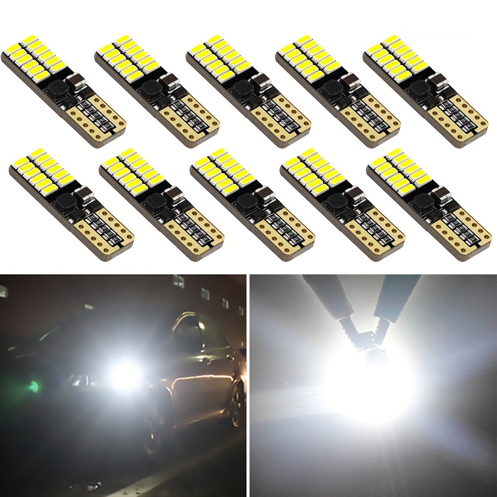 10x W5W T10 LED 4014 SMD Car Interior Parking Light Bulbs For <font><b>Ford</b></font> <font><b>Focus</b></font> Kuga Mustang Escape Transit KA Ecosport <font><b>MK2</b></font> MK3 Galaxy image