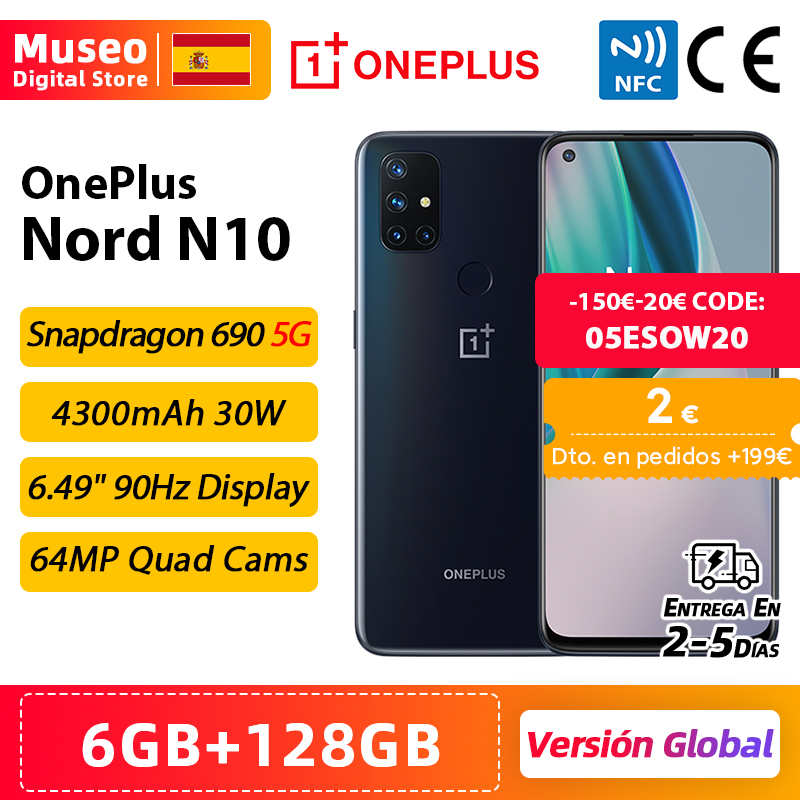 Global Version OnePlus Nord N10 5G Cellphone 6GB 128GB Snapdargon 5G 6.49'' 90Hz FHD+ Display Warp Charge 30T NFC|Cellphones| - AliExpress