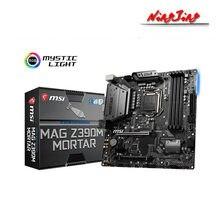MSI MAG Z390M harç mikro ATX Intel Z390 M.2 DDR4 SATA USB 3.1 yeni 128G çift kanal desteği 8 9 Gen 1151 CPU anakart