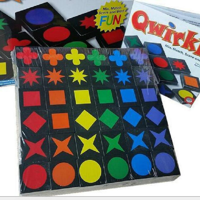 New Educational Educational Toys Qwirkle Wooden Chess Parent-child Interactive Game Toys Children And Adult Toys