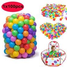 Ephex 100 шт Пластиковые родители-дети, взаимодействие океан бобо мяч 5,5 см нетоксичные рождественские подарки красочная палатка мяч веселье