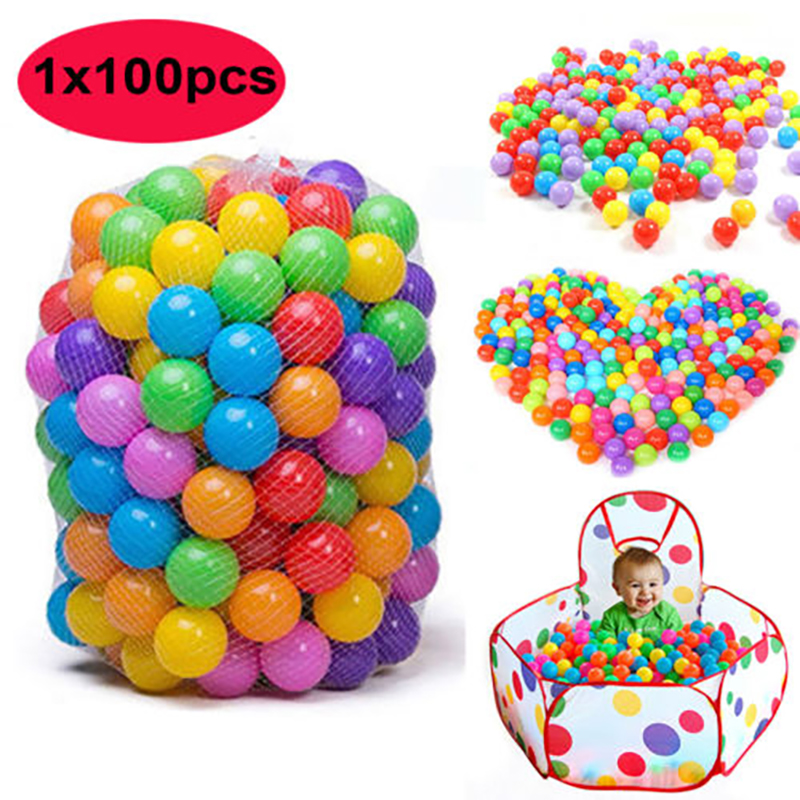 Ephex 100pcs Plastic Parents-Kids Interaction Ocean Bobo Ball 5.5cm Non-Toxic Christmas Gifts Colorful Tent Ball Fun